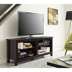 "Shop for 58"" Essential Wood TV Stand- Espresso. Get free shipping at Overstock.com - Your Online Furniture Outlet Store! Get 5% in rewards with Club O!"