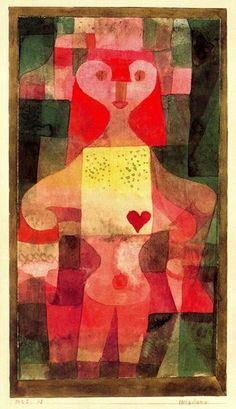 Paul Klee >> Reina de corazones  |  (, obra de arte, reproducción, copia, pintura).
