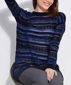 Love this Navy Stripe Sweater on #zulily! #zulilyfinds