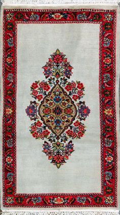 "Qum Persian Rug, Buy Handmade Qum Persian Rug 2' 7"" x 4' 7"", Authentic Persian Rug"