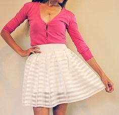 DIY Curtains sewn pleated skirt