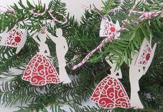 Tinyrose's Craft Room: Christmas Decorations for a Tea Dance Group's Christmas Tree Christmas Decorations, Christmas Tree, Christmas Ornaments, Holiday Decor, Hinton Ampner, Crafty, Dance, Tea, Room