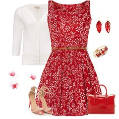 """""""summer day"""" by borntoread on Polyvore.....wish I could find this to wear to my brothers wedding!"""