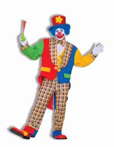 Men's Clown On The Town Costume, Blue/Red, One Size Forum Novelties Inc.,http://www.amazon.com/dp/B00412BD6S/ref=cm_sw_r_pi_dp_IVBMsb1K6EQ2NA9F