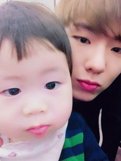 cutie kihyun with cute baby cousin