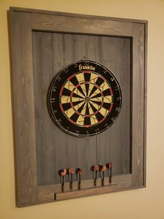 Dart Board, Weekend Projects, Darts, Clock, Wall, Home Decor, Watch, Diana, Decoration Home