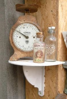 .Here's an idea -put up an interesting small shelf for your scale in an open area.