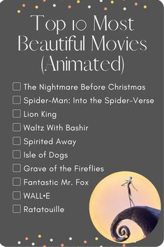 Most beautiful animated movies! The Nightmare Before Christmas! This Tim Burton film is a Halloween classic. Netflix Movie List, Best Movies List, Netflix Movies To Watch, Movie To Watch List, Good Movies To Watch, Netflix Hacks, Good Animated Movies, Animated Movie Posters, Every Disney Movie