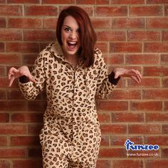 Our 'Wild' adult onesie    http://www.funzee.co.uk/product-range/all-in-one-cotton-onesie-leopard-spot-print