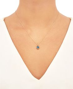 Gold Necklace Simple, Gold Pendant Necklace, Evil Eye Jewelry, Evil Eye Necklace, Evil Eye Pendant, Evil Eye Charm, Cute Jewelry, Fashion Necklace, Dear Santa