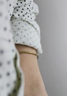 #Blue dots and gold. #Style #Fashion #Look