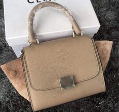 9a93a86e23155 Celine Mini Trapezre Tote Bag Litchi Calfskin -Original Litchi Calfskin  -Shoulder strap -Interior zipper pockets -Same Celine logo and de.