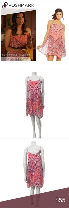 American Rag Spring Dress💐🐰 ‼️ AS SEEN ON JANE THE VIRGIN‼️  AMERICAN RAG CIE FLORAL-PRINT TRAPEZE DRESS SZ S NWOT MACY'S EGRET COMBO PHEONIX 🌟Not Free People! Listed for views but it is honestly reallllyyyy similar to what they carry🌟 PRODUCT DETAILS  Material: 100% polyester Flaw: no flaws found Color: Egret combo Specifics: Floral-print Trapeze Dress Accordion pleat spaghetti straps. This dress is very lightweight and the fabric is nice enough for a fancy event!  Size : S  Garment…