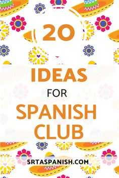 Does your school have a Spanish club? Whether you want to start one, or students want to get one going, it's great to have different activities handy. Check out these ideas for Spanish club in your middle school and high school! 20 activities for Spanish club for secondary students in a quick and easy list to get your officers planning - plus, tips for how to start a Spanish club and how to run a Spanish club! Salsa Lessons, Research Poster, Idiomatic Expressions, Middle School Spanish, Spanish Lesson Plans, Planning And Organizing, Dance Teacher, Dance Lessons, Spanish Classroom
