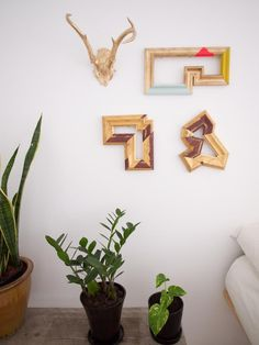 DIY Abstract PictureFrames - love the various shapes