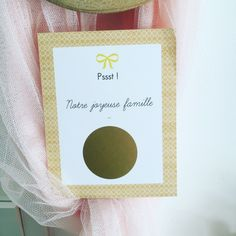 Cartes à gratter Annonce de grossesse Famille (lot de 5)