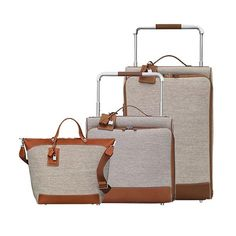 The 10 best luxury luggage sets to invest in - Elle Canada. This versatile calfskin and canvas Hermès luggage set will look just as good on safari, as it will on a trip through the French Riviera.  Hermès Caleche-express rolling luggage and tote bag (from $7,250 to $7,950 each.