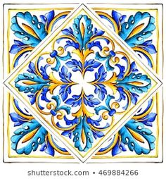 Find Italian Majolica Tiles Floral Ornament stock images in HD and millions of other royalty-free stock photos, illustrations and vectors in the Shutterstock collection. Thousands of new, high-quality pictures added every day. Diy Sticker, Motif Oriental, Italian Pattern, Italian Tiles, Tuile, Hand Painted Ceramics, Tile Art, Tile Patterns, Islamic Art