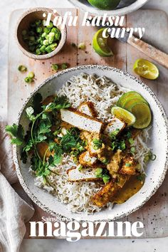 This fragrant Japanese-style curry is the perfect way to enjoy tofu – crispy on the outside and deliciously tender in the centre Veggie Recipes, Asian Recipes, Vegetarian Recipes, Veggie Dinners, Cooking Recipes, Asian Foods, Veggie Food, Katsu Curry Recipes, Tofu