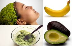 damaged-hair-home-remedies-avocado-banana