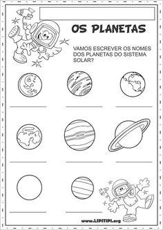 Atividades para ensinar os planetas do nosso sistema solar