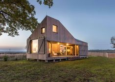 A+Awards: next up in our collaboration with Architizer is this energy-efficient wooden home on the outskirts of a small village in the Czech Republic.
