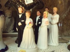 We have a great collection of vintage wedding cake toppers!