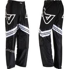 Alkali Hockey RPD Lite Pant, Black/White, Senior Small. Ventilated Mesh Flex body fabric. Large crotch gusset. 1680 denier ballistic knee. Sure Fit II belt system. Sublimated graphics.