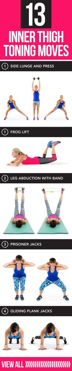 13 Moves for Terrifically Toned Inner Thighs The perfect lower body workout!