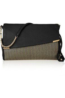 Jimmy Choo Ally studded textured-leather shoulder bag   NET-A-PORTER