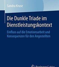 Die Dunkle Triade Im Dienstleistungskontext PDF