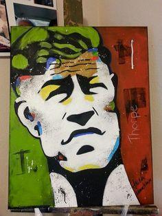 Portrait of Jim Thorpe by J. NiCole Nahmi-A-Piah.