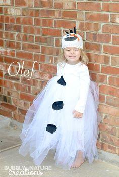 DIY Disney OLAF Tutu Costume! (No-Sew)