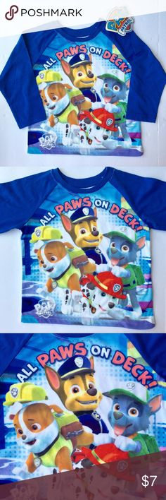 NWT Nickelodeon Paw Patrol T-shirt •W E L C O M E• You are purchasing a brand new with tags Paw Patrol t-shirt!   •D E T A I L S•  Size: 2T Brand: Nickelodeon Color: Blue  Material: 60% Cotton 40% Polyester Description: All paws on deck! Adorable baseball style long sleeve boys' t-shirt features four pups ready to save the day! Lightweight and super soft. Brand new with tags.   Retail MSRP (not including tax): $14.99                  •T H A N K • Y O U• Nickelodeon Shirts & Tops Tees - Long…