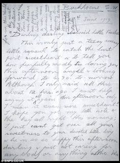 A gushing love letter from Edward VIII/The Duke of Windsor to his mistress Freda Dudley Ward. Wallis was not the first - all his major mistresses were married.....
