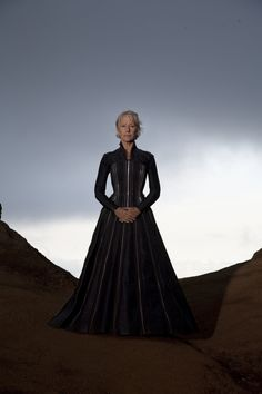 Helen Mirren in The Tempest  That corset, trimmed in zipper teeth and with quick lacers in place of grommets in back!!!