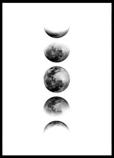 CUADRO FASES DE LA LUNA - Comprar en EMOTY Moon Sketches, White Background Quotes, Tattoo Signs, Photo Wall Collage, Funny Art, Autumn Inspiration, Cute Wallpapers, Canvas Wall Art, Tatoos