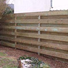 Cloture en bois trait oblik sur bricolage jardin pinterest - Faire une cloture en palette ...