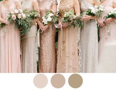 shimmer-nude-blush-bridesmaid-dresses Pretty colors