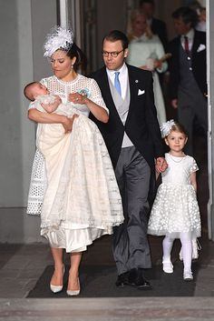 The Swedish royal family were out in full force to attend the christening of Prince Oscar of Sweden on Friday