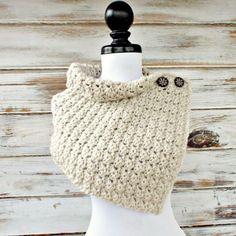 Crochet Cowl Scarf Eloise Cowl Crochet Capelet in by pixiebell Knit Or Crochet, Crochet Scarves, Crochet Shawl, Hand Crochet, Crochet Hooks, Crochet Cardigan, News Boy Hat, Cowl Scarf, Yarn Needle