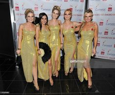 Sarah Hewson, Nazneen Ghattar, Charlotte Hawkins, Sarah-Jane Mee and Jacquie Beltrao from Sky News attend Newsroom's Got Talent, a charity event sponsored by Camelot, which raised money for Leonard Cheshire Disability and Beating Bowel Cancer on November 2, 2011 in London, United Kingdom.