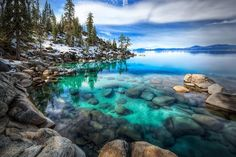 """Aquamarine"": Lake Tahoe Nevada Like a jewel beyond price... a gem of the ages. She was simply... Aquamarine."