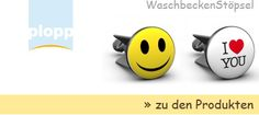 Plopp Waschbecken Stoepsel für alle Waschbecken: Goldfisch, Smiley, Pirat, oder einfach nur ein cooler Spruch - mit plopp Waschtischstöpseln kommt Leben in Ihr Waschbecken. Lustige Motive, die am Morgen fröhlich stimmen oder ein schönes Bild, welches den Abend mal ganz anders ausklingen lässt. Triste Waschbecken sind Vergangenheit. Schauen Sie sich unsere Kollektion an und wählen Sie Ihren eigenen plopp. Von www plopp co - made in Germany - Gefertigt in Werkstätten für Menschen mit…