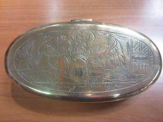 brass tobacco box jar detector find bodemvondst religieus snuff box tabaco 18