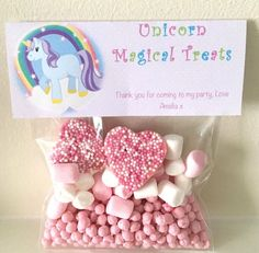 Party Sweet Bag Favours - Party Bag - Sweet Cone - Girls Party - Boys Party - Unicorn - Baby Shower Favours - Sweet Filled Cello - Birthday by PoppiesBakehouse on Etsy https://www.etsy.com/uk/listing/519439278/party-sweet-bag-favours-party-bag-sweet