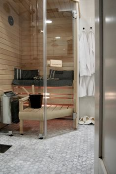 Image result for pieni sauna Divider, Saunas, Room, Furniture, Home Decor, Image, Bedroom, Decoration Home, Room Decor