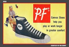 PF Flyers ad from 1958. I wanted a pair but didn't get them :(