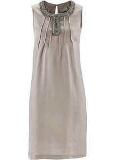 Vestido de linho premium pedra natural encomendar agora na loja on-line bonprix.de R$ 99,90 a partir de Vestido premium, elegante, de linho vaporoso, com ...