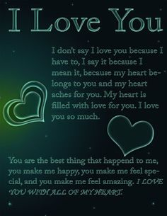 Free I love you ecard that you can send to your friends, family, and loved ones. - Free I love you ecard that you can send to your friends, family, and loved ones. I Love You Ecards, Love You Poems, Love Poem For Her, I Love You Images, Love Quotes For Him Romantic, Love Quotes For Her, Cute Love Quotes, Love Yourself Quotes, Romantic Gestures For Him